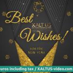 🤩🎄 XALTUS - #digital #Christmas #card offer 2020 - #golden christmas - #video 01202012240604s
