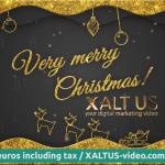 🤩🎄 XALTUS - #digital #Christmas #card offer 2020 - #golden christmas - #video 01202012240605s